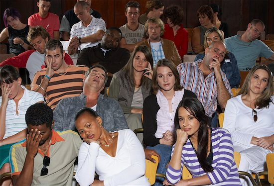 Unhappy audience